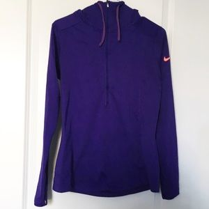 Nike Pro Dri Fit Women's Athletic  Hoodie Purple